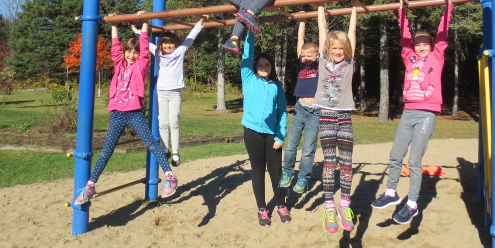 KPS students enjoying play structure
